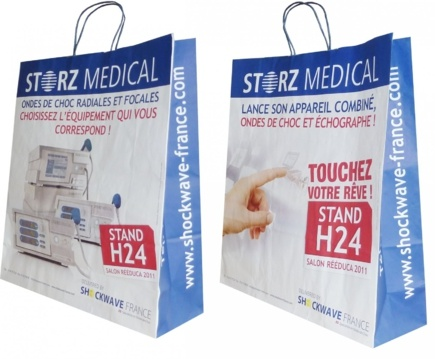 sac papier kraftStorz medical recto verso