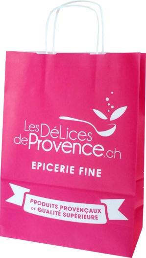 sac papier les délices en provence épicerie fine