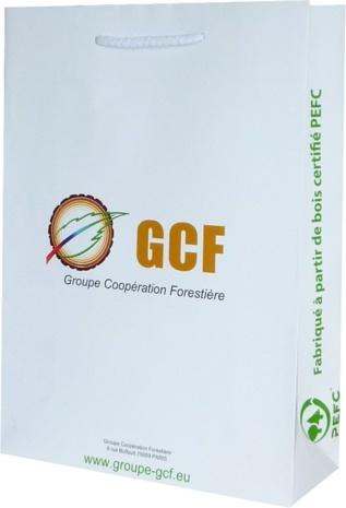 sac papier luxe manuel publicitaire GCF