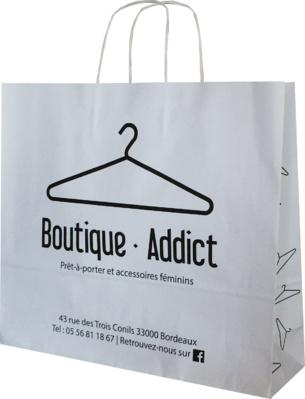 sac papier personnalisable boutique addict bordeaux