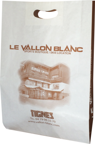 Sac papier poignées découpées Le Vallon Blanc