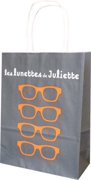 sac papier publicitaire les lunettes de juliette opticien