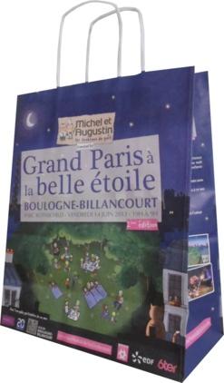 sac papier publicitaire nuit à la belle étoile paris bordeaux