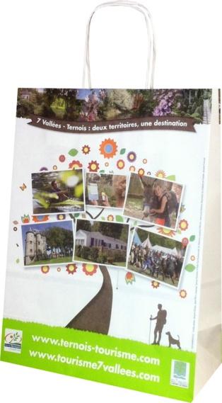 sac papier publicitaire Tourisme 7 vallées