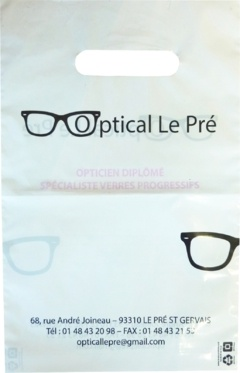 sac plastique opticien Optical le pré