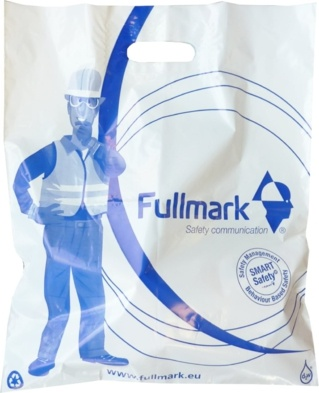 sac bioplastique poignées découpées simples