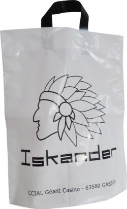 sac plastique personnalisable iskander