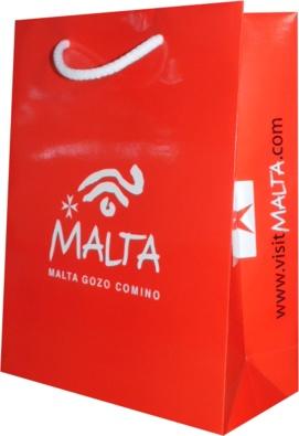sac publicitaire de l'office de tourisme de malte