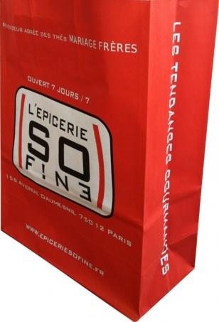 sac papier personnalisé epicerie SO FINE