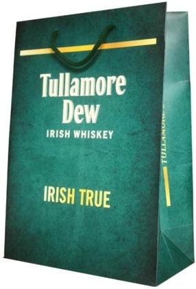 Sac publicitaire papier Luxe Tullamore Dew Irish Whiskey
