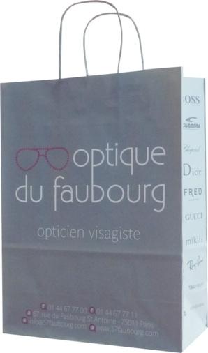 sac publicitaire papier optique du faubourg