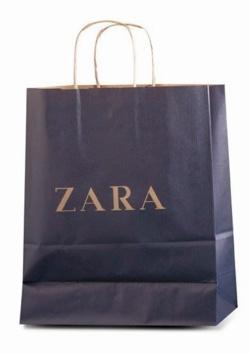 Sac kraft poignées torsadées Zara