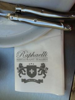 Serviette papier personnalise restaurant italien raphaelli