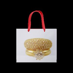 sac luxe poignées ruban bijoux