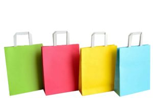 sacs couleur papier kraft poignées plates