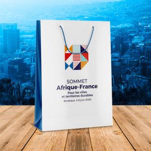 Sac personnalisé Sommet France Afrique Bordeaux