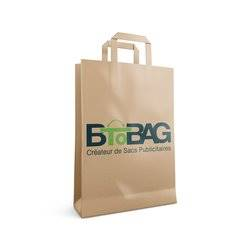sac kraft poignees plates brun btobag