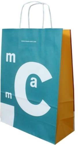 sac papier kraft personnalisé poignées torsadées musée art moderne ceret