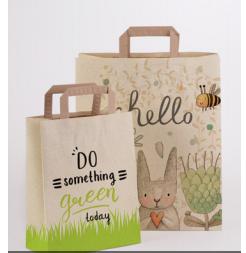 sac en papier à base d'herbes