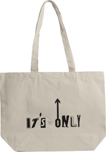 Sac cabas coton avec soufflet it's only