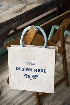 sac toile de jute personnalisable your design here